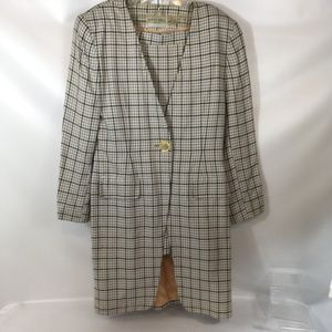 Vintage Alvin Bell NY - 2 Piece Plaid Career Suit